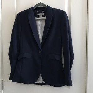 H&M Dark Navy Blue Fitted Blazer